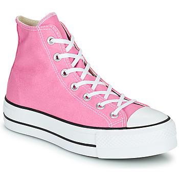 Sapatos Mulher Sapatilhas de cano-alto Converse CHUCK TAYLOR ALL STAR LIFT SEASONAL COLOR HI Rosa