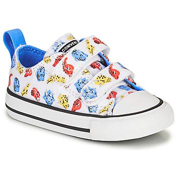 Sapatos Criança Sapatilhas Converse CHUCK TAYLOR ALL STAR 2V DINO DAZE OX Branco / Verde / Laranja