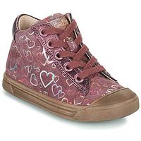 Sapatos Rapariga Sapatilhas de cano-alto Acebo's 5533EL-GRANADA Rosa