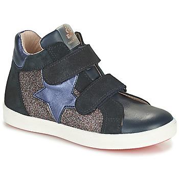 Sapatos Rapariga Sapatilhas de cano-alto Acebo's 5541SX-MARINO Marinho
