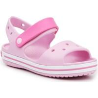 Sapatos Rapariga Sandálias Crocs Crocband Sandal Kids12856-6GD pink