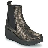 Sapatos Mulher Botins Fly London BAGU Cinza / Ouro