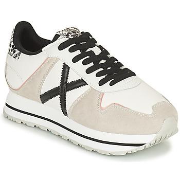 Sapatos Mulher Sapatilhas Munich MASSANA SKY Bege / Branco / Preto