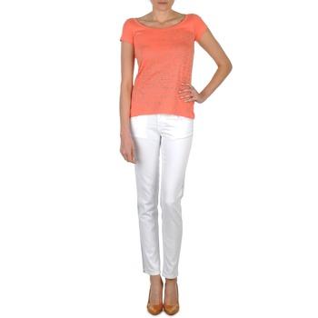 Textil Mulher Calças de ganga slim Calvin Klein Jeans JEAN BLANC BORDURE ARGENTEE Branco