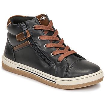 Sapatos Rapaz Sapatilhas de cano-alto Mod'8 KYNATA Marinho / Castanho