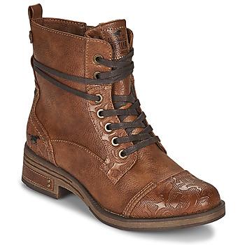 Sapatos Mulher Botas baixas Mustang 1293501 Castanho