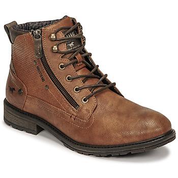 Sapatos Homem Botas baixas Mustang 4140501 Conhaque