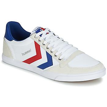 Sapatos Sapatilhas Hummel TEN STAR LOW CANVAS Branco / Vermelho / Azul