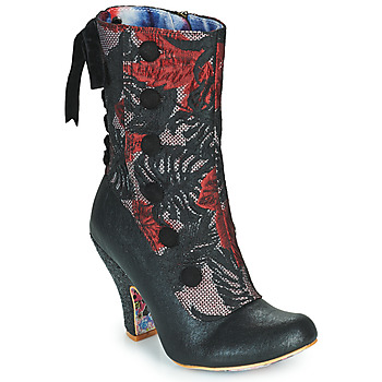 Sapatos Mulher Botins Irregular Choice REINETTE Preto / Vermelho
