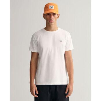 Textil Homem Polos mangas curta Gant T-shirt Original Branco