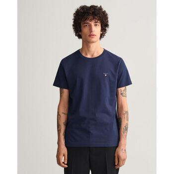 Textil Homem T-Shirt mangas curtas Gant T-shirt Original Azul