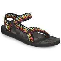 Sapatos Mulher Sandálias Teva ORIGINAL UNIVERSAL Preto / Multicolor