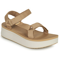 Sapatos Mulher Sandálias Teva Flatform Universal Bege / Branco