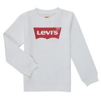 Textil Rapaz Sweats Levi's BATWING CREWNECK SWEATSHIRT Branco