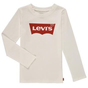 Textil Rapariga T-shirt mangas compridas Levi's LS BATWING TEE Branco