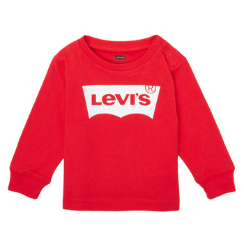 Textil Rapaz T-shirt mangas compridas Levi's L/S BATWING TEE Vermelho