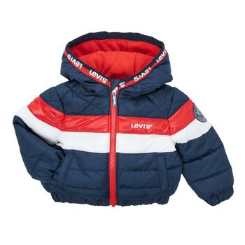 Textil Rapaz Quispos Levi's COLORBLOCK JACKET Azul / Vermelho / Branco
