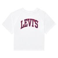 Textil Rapariga T-Shirt mangas curtas Levi's SSRGLANHGHRISETESHIRT Branco