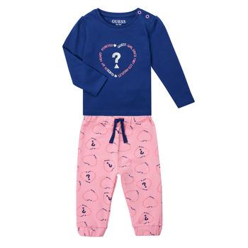 Textil Rapariga Conjunto Guess ANISSA Rosa / Azul