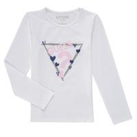 Textil Rapariga T-shirt mangas compridas Guess MONICA Branco
