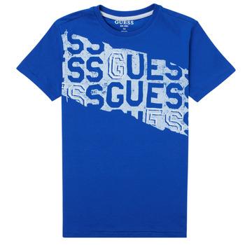 Textil Rapaz T-Shirt mangas curtas Guess LISTIN Azul