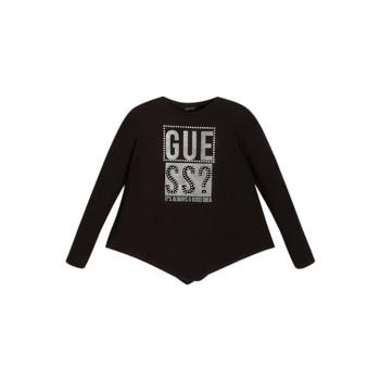 Textil Rapariga T-shirt mangas compridas Guess UPSET Preto