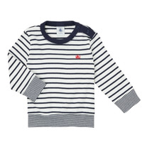Textil Rapaz T-shirt mangas compridas Petit Bateau IGRAE Branco / Azul