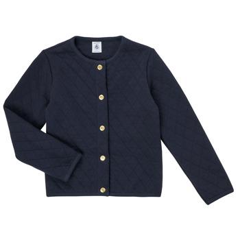 Textil Rapariga Casacos de malha Petit Bateau COLYNNE Azul