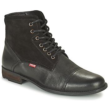 Sapatos Homem Botas baixas Levi's FOWLER 2.0 Preto
