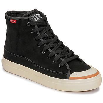 Sapatos Homem Sapatilhas de cano-alto Levi's SQUARE HIGH Preto