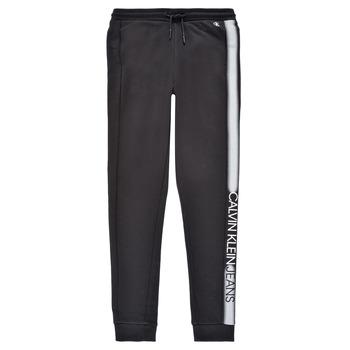 Textil Rapaz Calças de treino Calvin Klein Jeans RESPIRA Preto