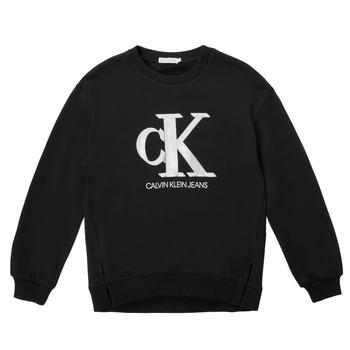 Textil Rapariga Sweats Calvin Klein Jeans POLLI Preto