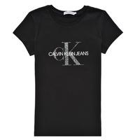 Textil Rapariga T-Shirt mangas curtas Calvin Klein Jeans VOYAT Preto