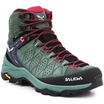 Sapatos Mulher Sapatos de caminhada Salewa WS Alp Trainer 2 Mid Gtx Preto, Verde