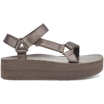 Sapatos Mulher Sandálias Teva Flatform Universal Leather Women's Metallic Bronze