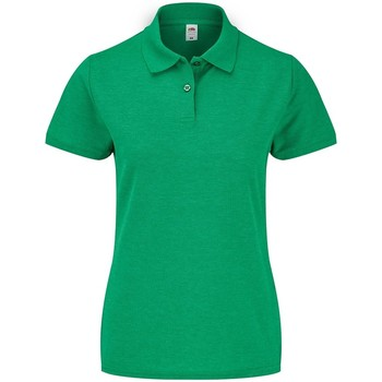 Textil Mulher Polos mangas curta Fruit Of The Loom SS86 Urze Verde