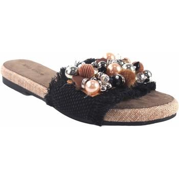 Sapatos Mulher Chinelos Olivina Sandália de senhora BEBY 19059 preta Preto