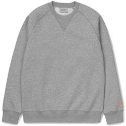 Textil Homem Sweats Carhartt Sweatshirt Chase Grey Heather Gold Cinza