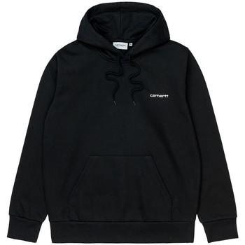 Textil Homem Sweats Carhartt Sweat Hooded Script Embroidery Black White Preto
