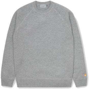 Textil Homem camisolas Carhartt Chase Malha Sweater Grey Heather Gold Cinza