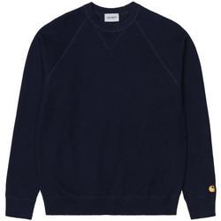 Textil Homem camisolas Carhartt Malha Chase Dark Navy Gold Azul