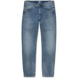 Textil Homem Calças Jeans Carhartt Calças Vicious Maitland Blue Worn Bleached Azul
