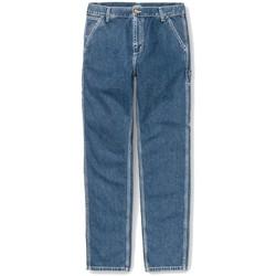 Textil Homem Calças Jeans Carhartt Calças Ruck Single Knee Blue Stone Washed Azul