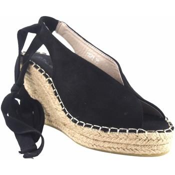 Sapatos Mulher Alpargatas Olivina Sandália de senhora BEBY 19072 preta Preto