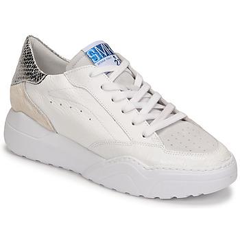 Sapatos Mulher Sapatilhas Semerdjian TANY Branco / Prata