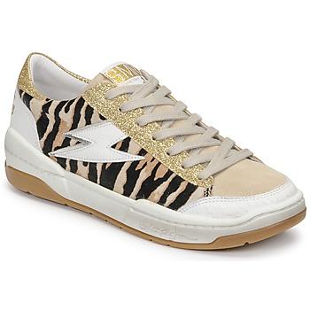 Sapatos Mulher Sapatilhas Semerdjian THEO Bege / Ouro / Castanho