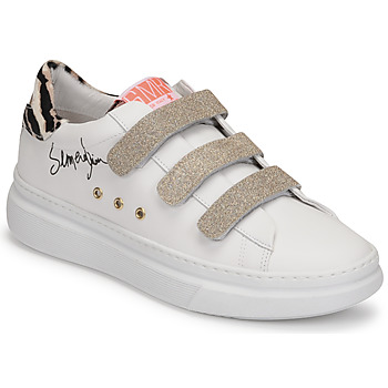 Sapatos Mulher Sapatilhas Semerdjian BARRY Branco / Ouro