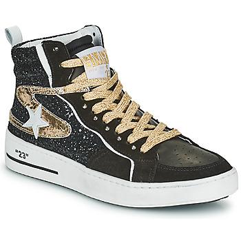 Sapatos Mulher Sapatilhas de cano-alto Semerdjian MARAL Preto / Ouro