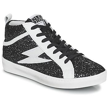 Sapatos Mulher Sapatilhas de cano-alto Semerdjian ALFA Preto / Branco
