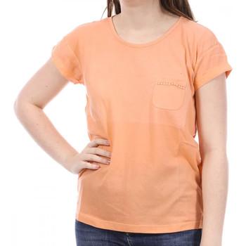 Textil Mulher T-Shirt mangas curtas Sun Valley  Laranja